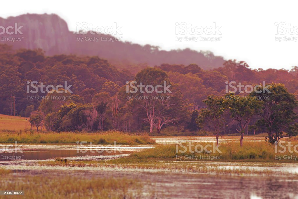 Lake MacDonald Sunshine Coast Hinterland stock photo
