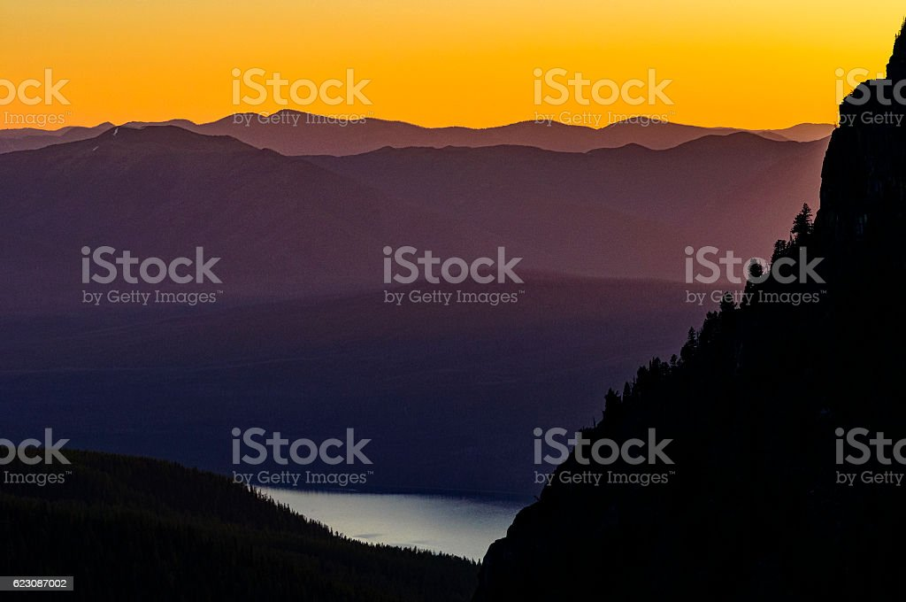 Lake Macdonald View Glacier National Park stock photo