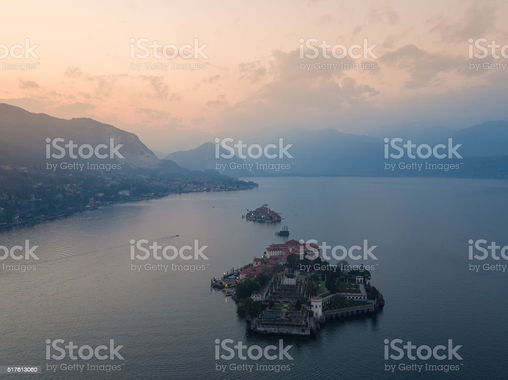 Lake Maggiore and the Borromean Islands stock photo