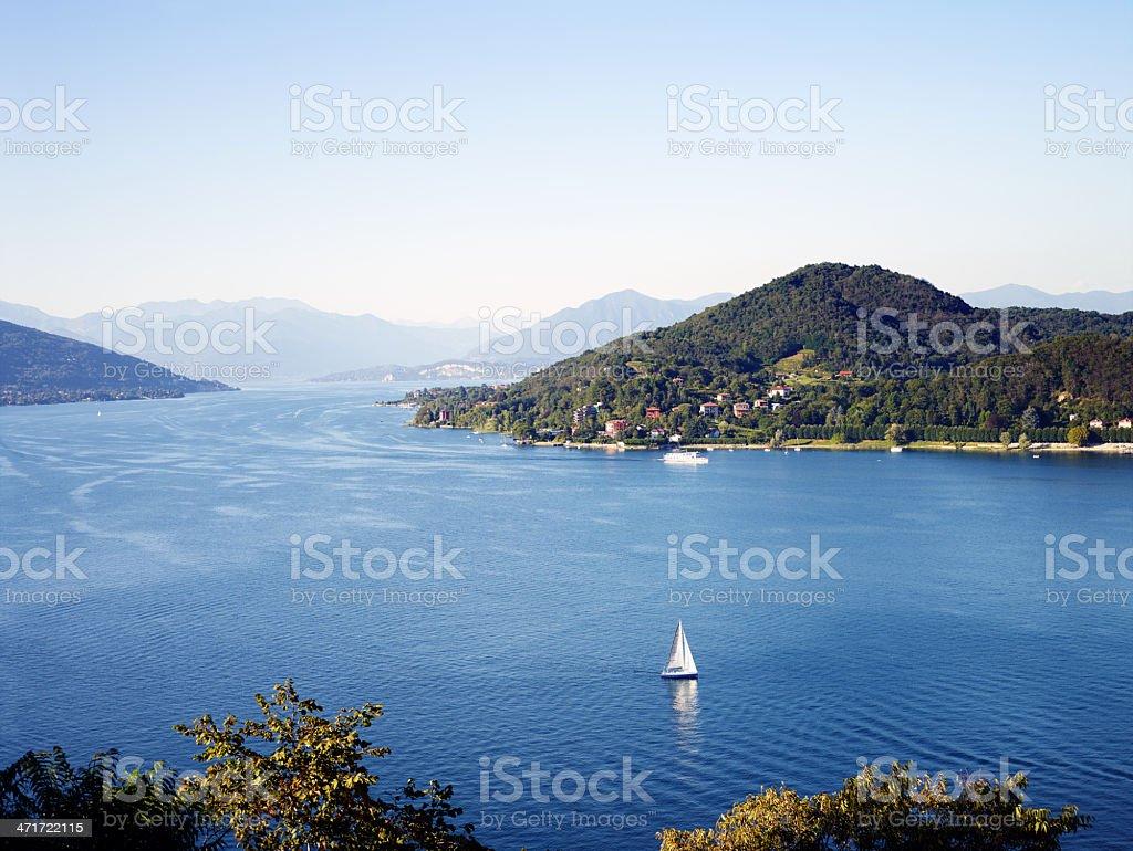 Lake Maggiore. Color Image stock photo