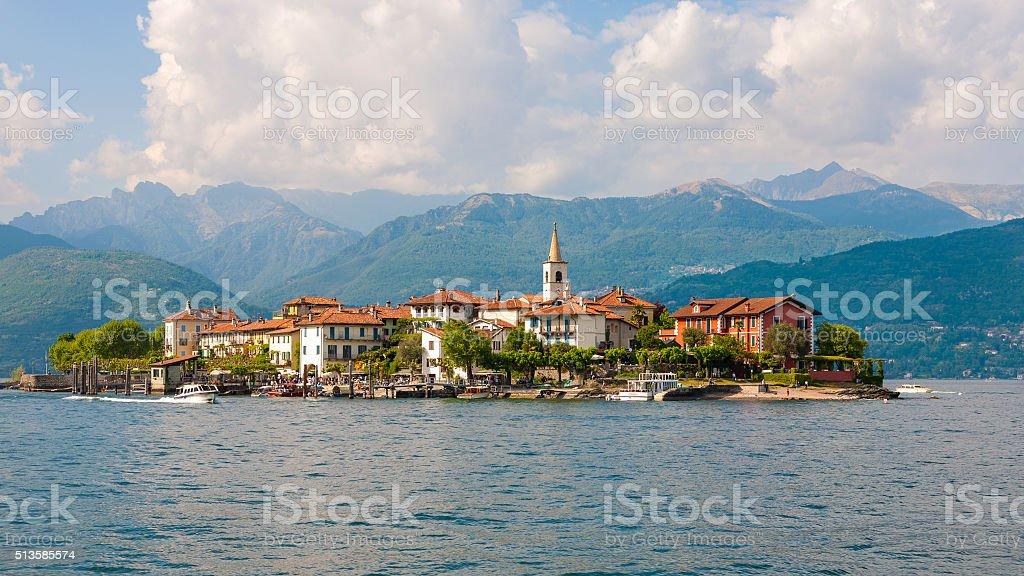 Lake Maggiore Fishermen Island stock photo