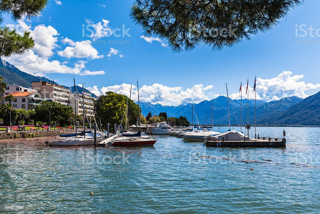 Lake Maggiore in Locarno stock photo