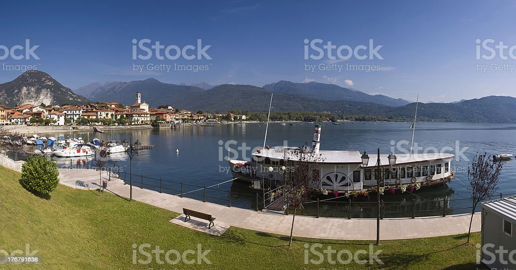 Lake maggiore summer panorama. royalty-free stock photo