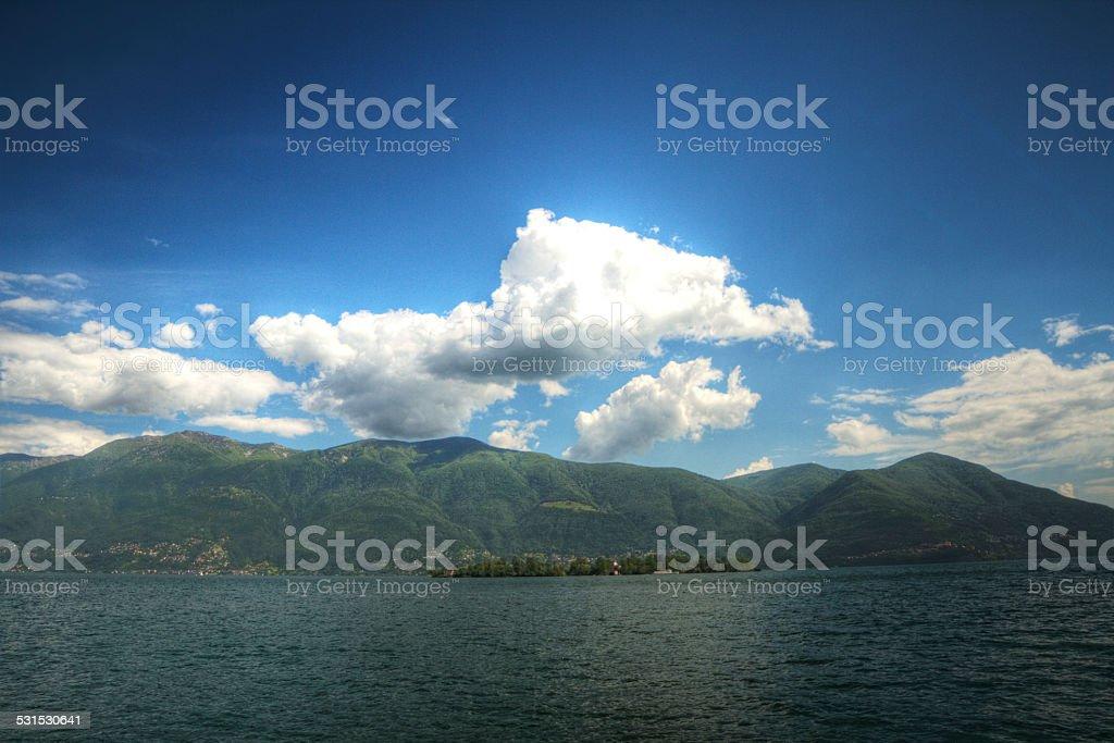 Lake Maggiore-Switzerland stock photo