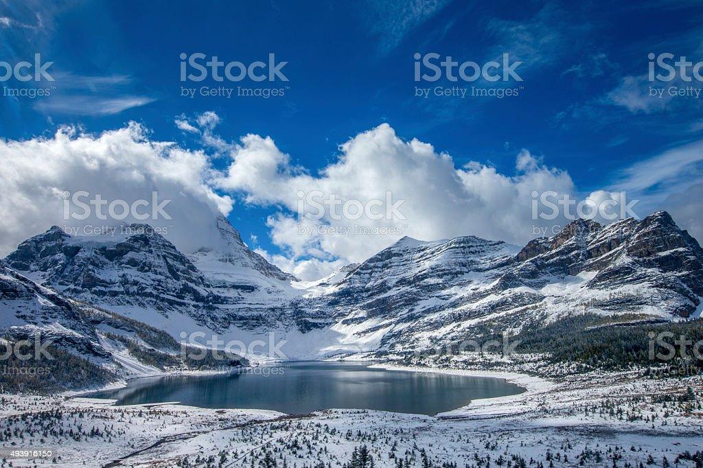 Lake Magog at Mount Assiniboine Provincial Park, Canada stock photo