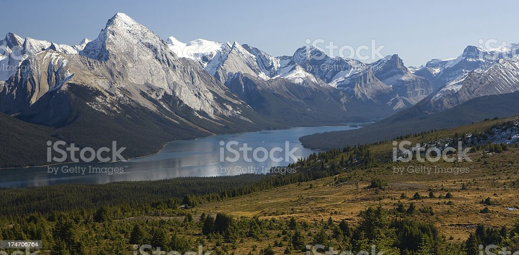 lake maligne royalty-free stock photo