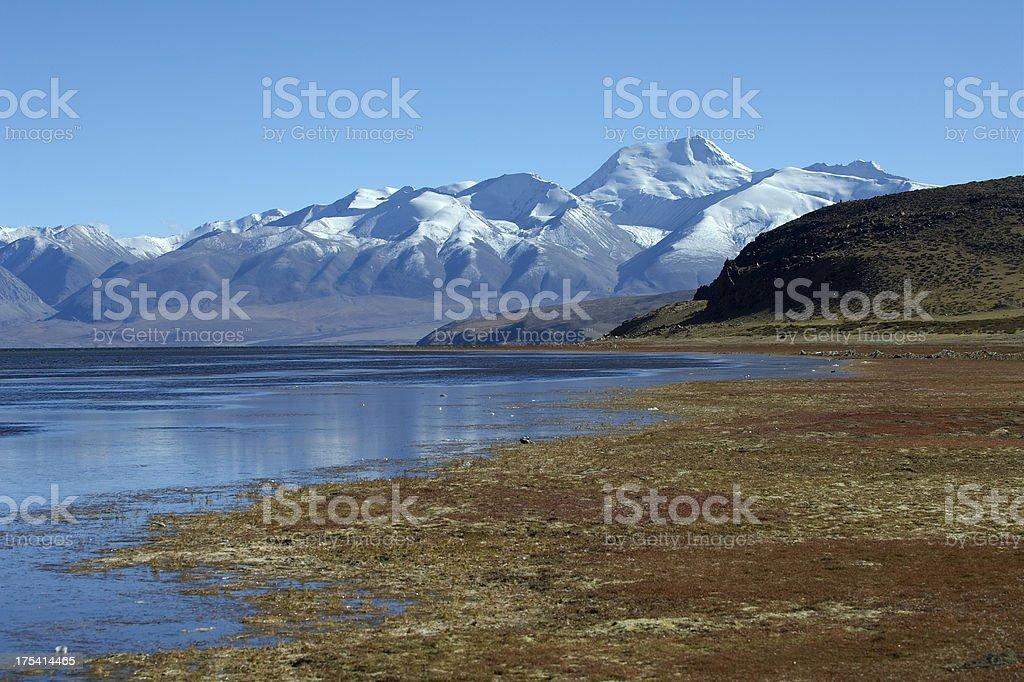 Lake Manasarovar stock photo
