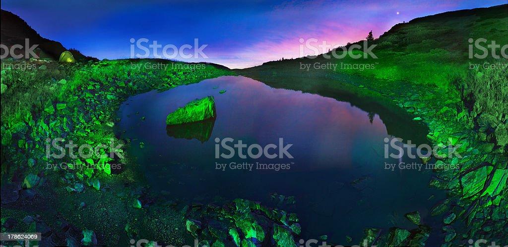 lake Marmarosha stock photo