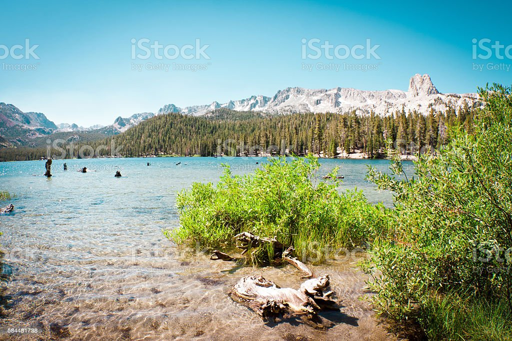lake Mary, Mammoth Lakes stock photo