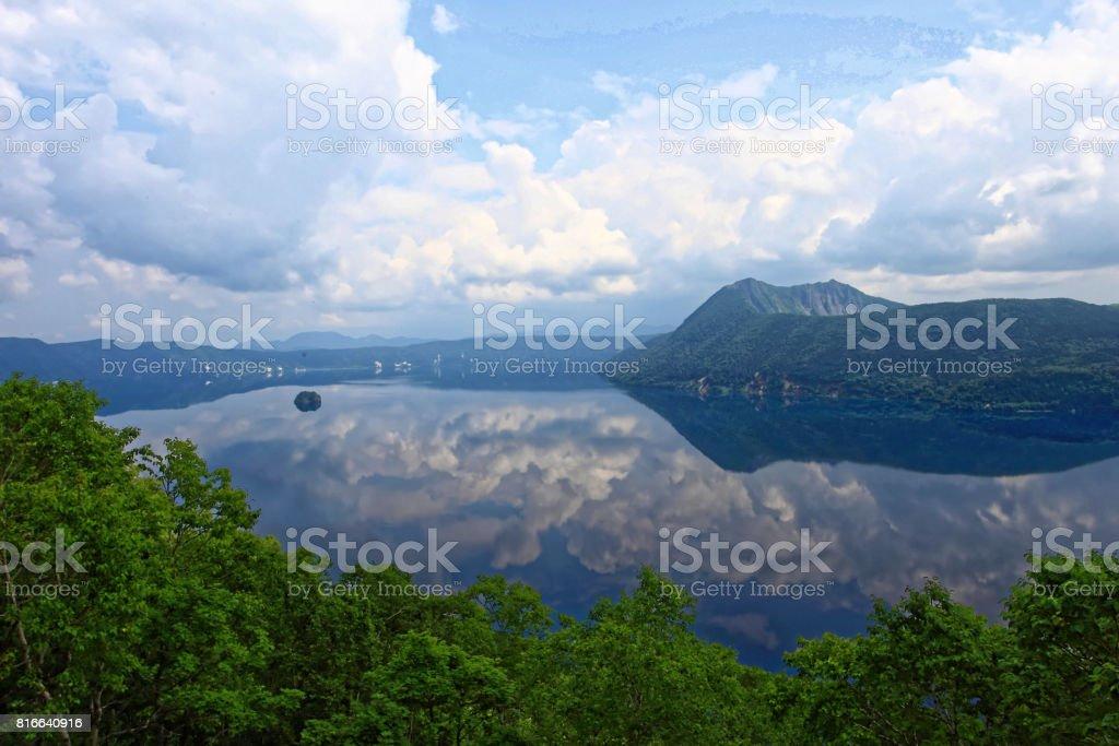 Lake Mashu, Hokkaido stock photo