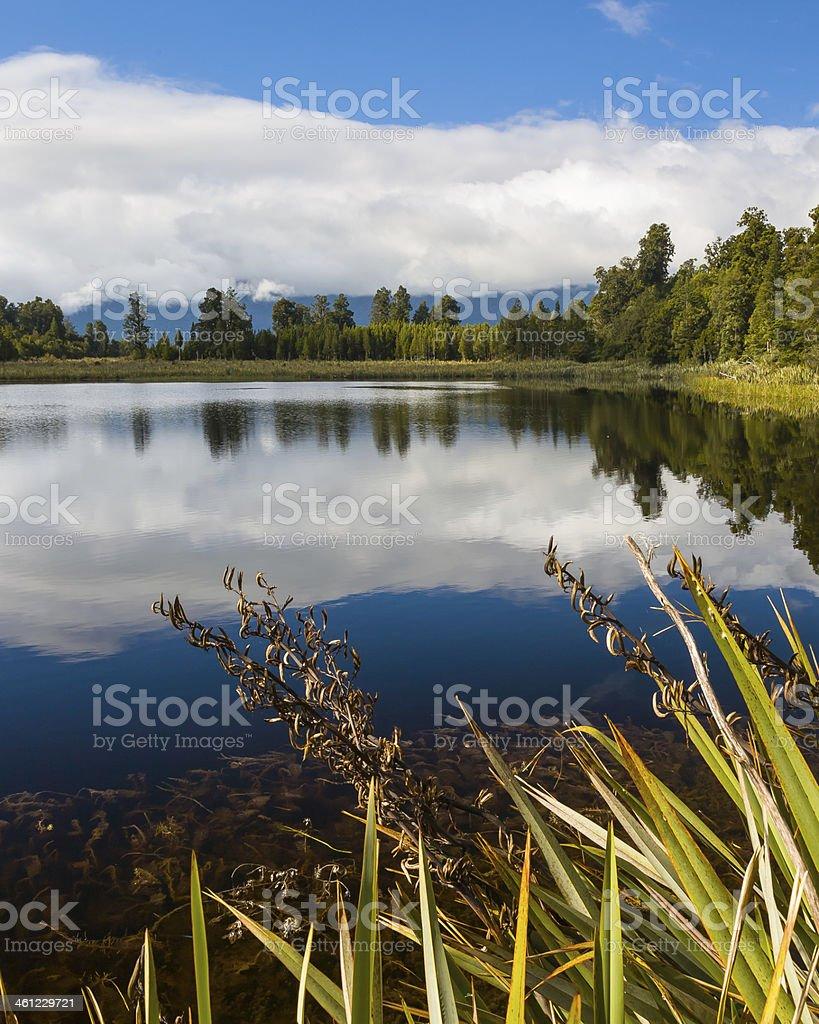 Lake Matheson near Fox Glacier South Island New Zealand stock photo