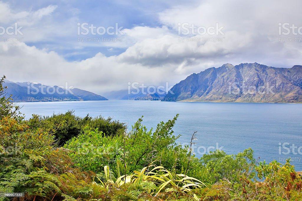 Lake Matheson New Zealand stock photo