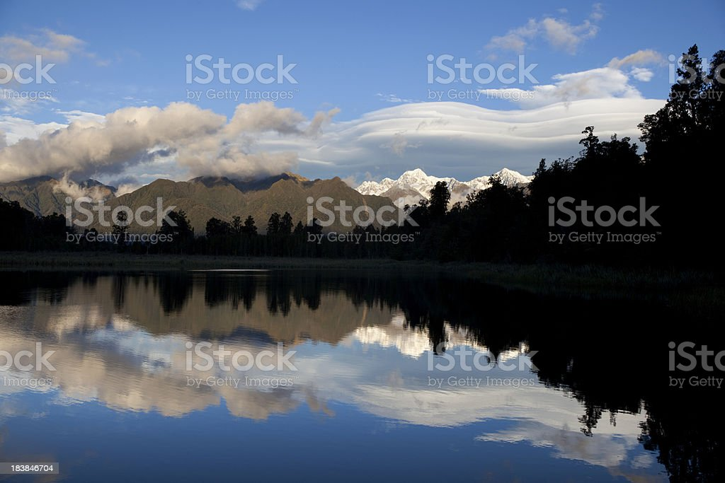 Lake Matheson Scenic royalty-free stock photo