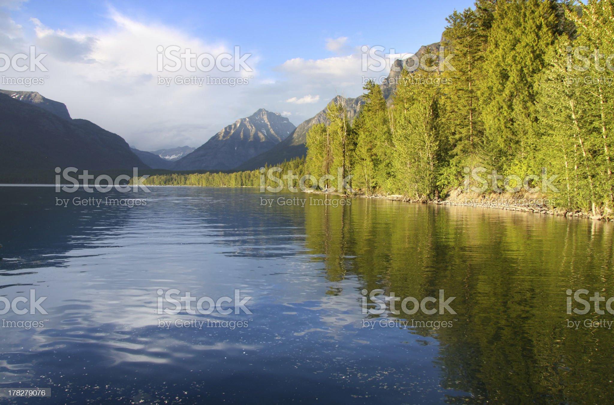 Lake Mc Donald royalty-free stock photo