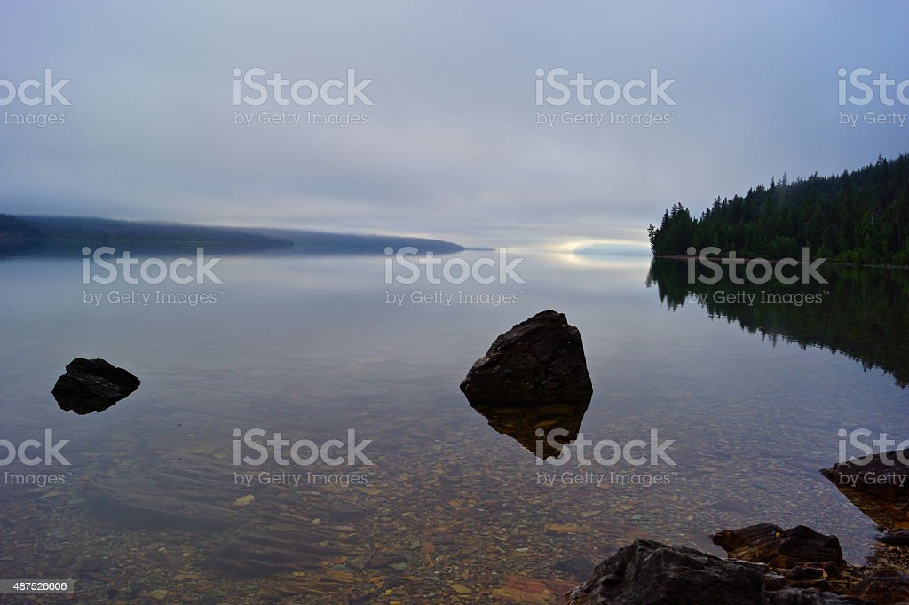 Lake McDonald Crystal Clear stock photo
