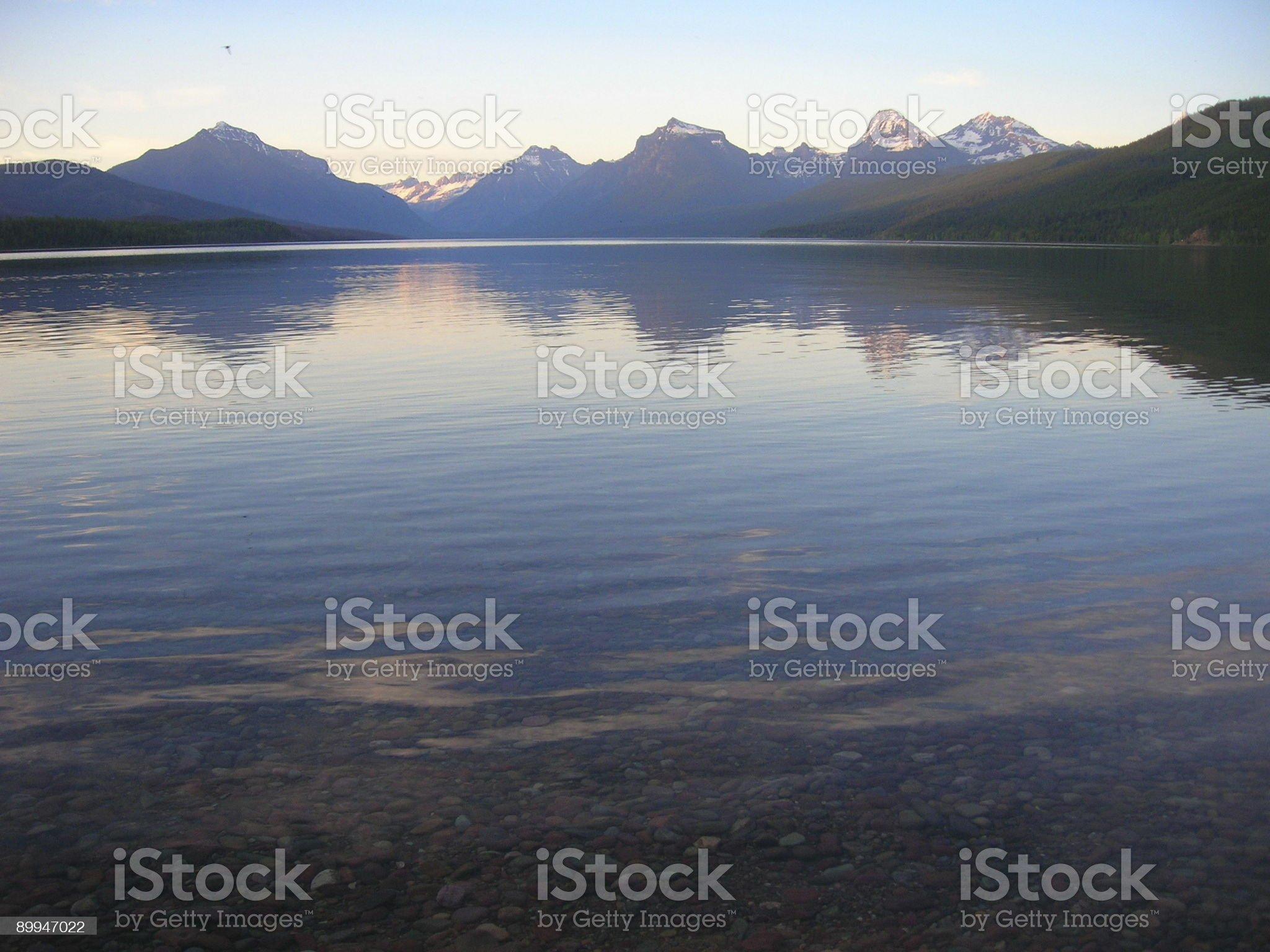 Lake McDonald Glacier National Park royalty-free stock photo
