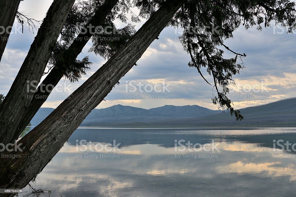 Lake McDonald, Glacier Nat'l Park, MT stock photo