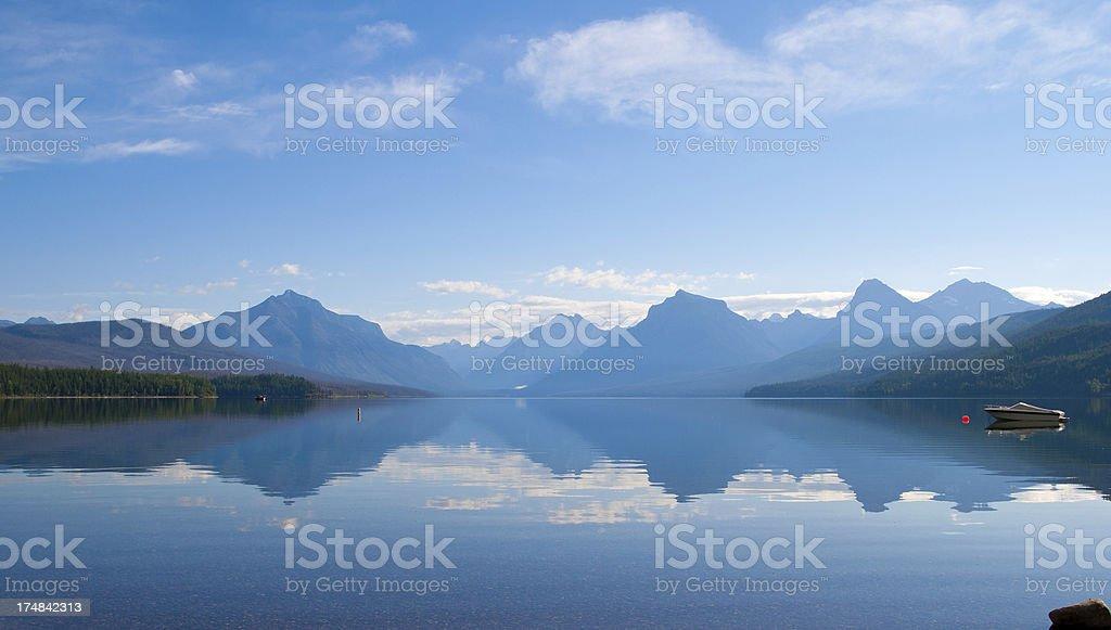 Lake McDonald in Glacier National Park, Montana royalty-free stock photo