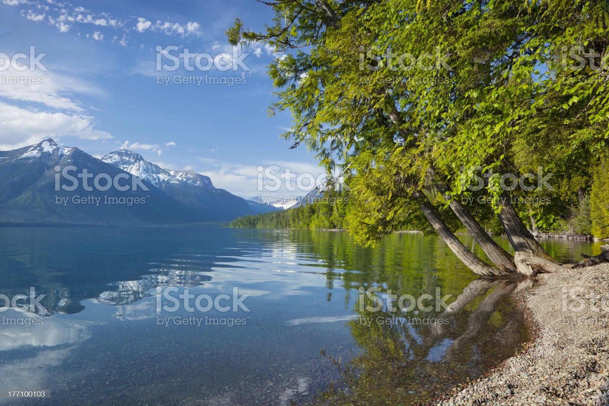 Lake McDonald in Glacier National Park royalty-free stock photo