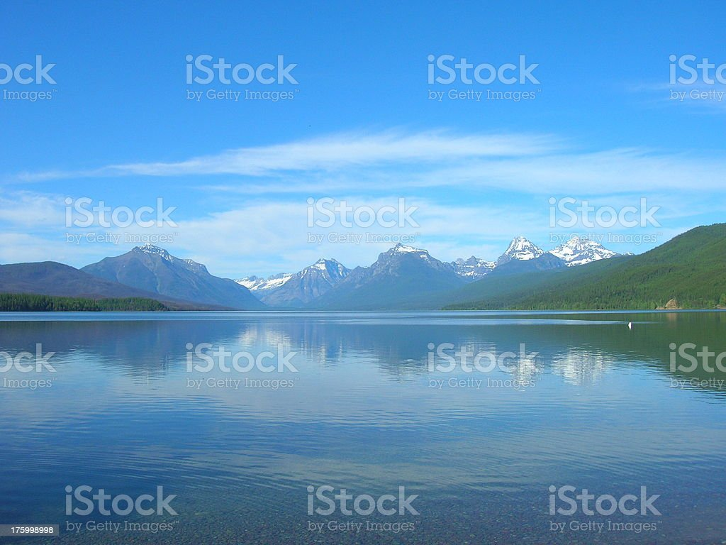Lake McDonald in the Afternoon stock photo