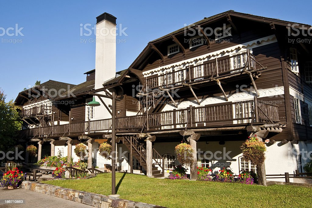 Historic Lake McDonald Lodge royalty-free stock photo