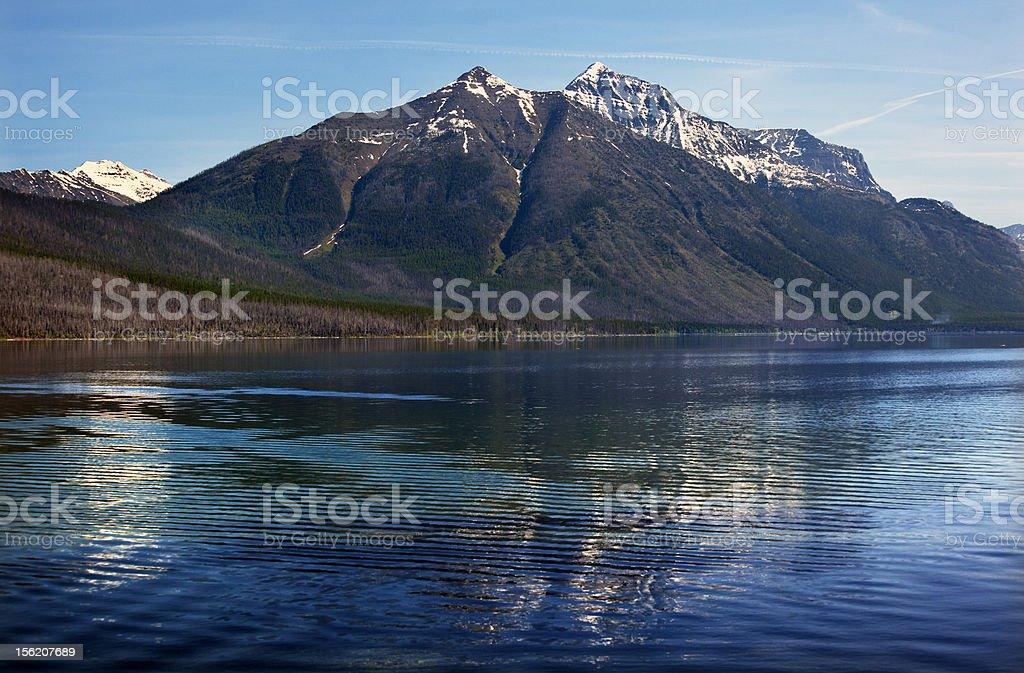Lake McDonald Mountain Reflection Glacier National Park Montana royalty-free stock photo