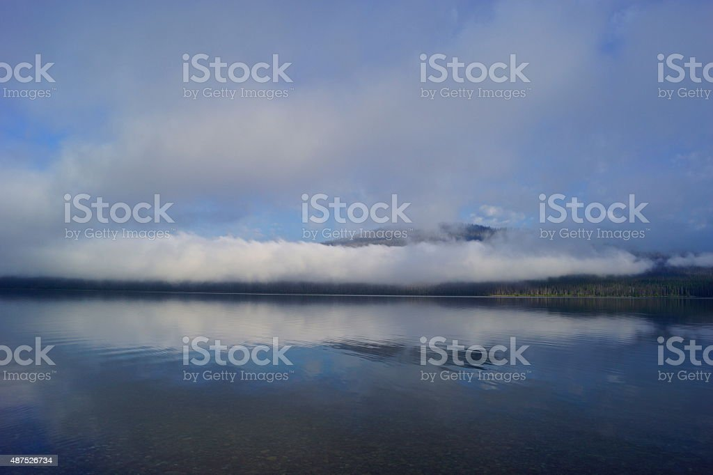 Lake McDonald Mystic stock photo