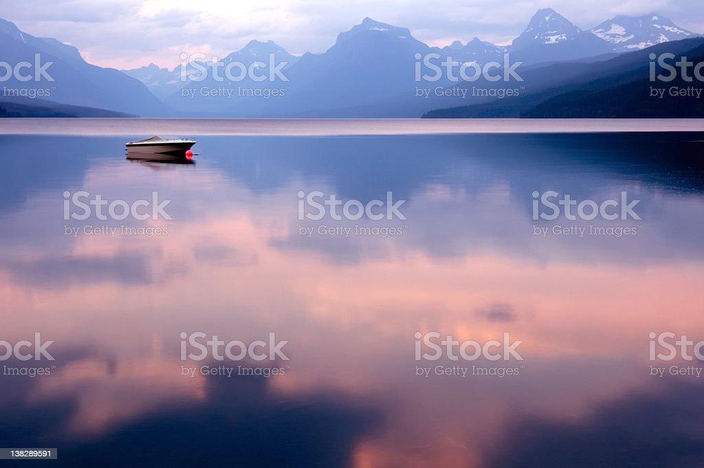 Lake McDonald royalty-free stock photo