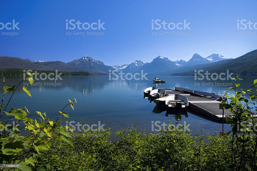 Lake McDonald royalty-free stock photo