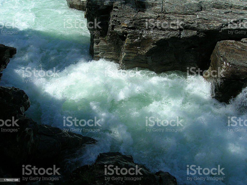 Lake McDonald River Glacier National Park royalty-free stock photo