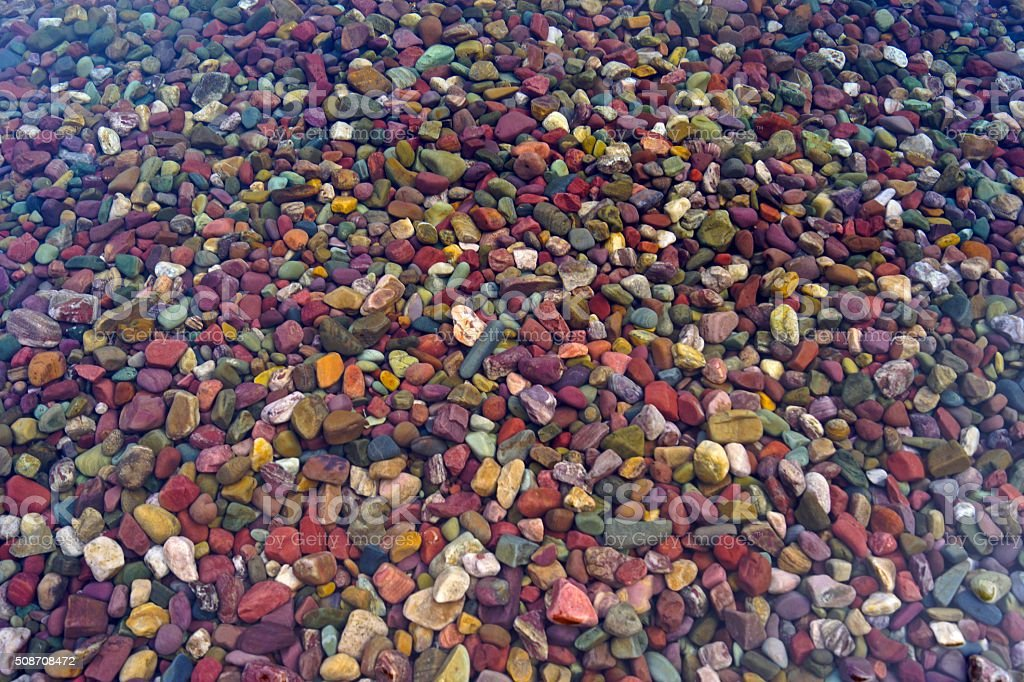 Lake McDonald Rocks stock photo