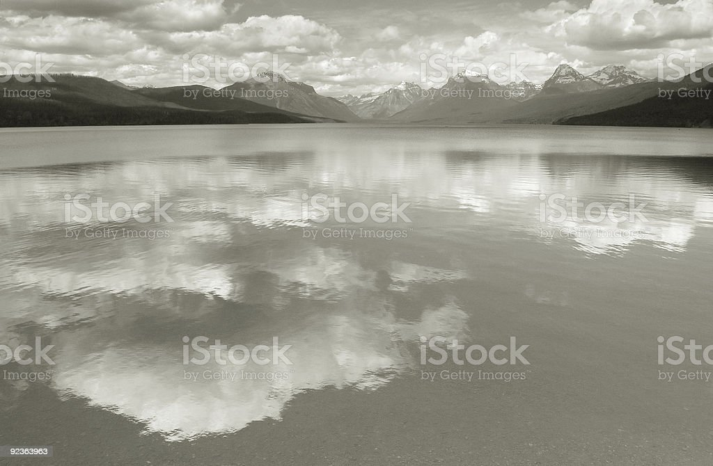 Lake McDonald--Homage to Ansel Adams royalty-free stock photo