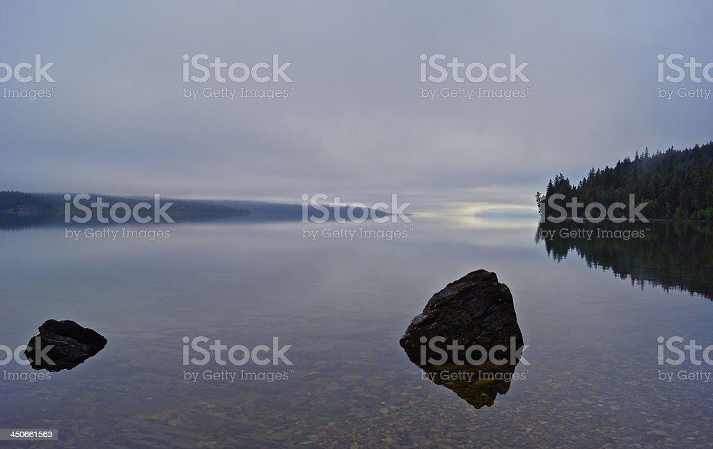 Lake McDonald's Natural Mystic stock photo