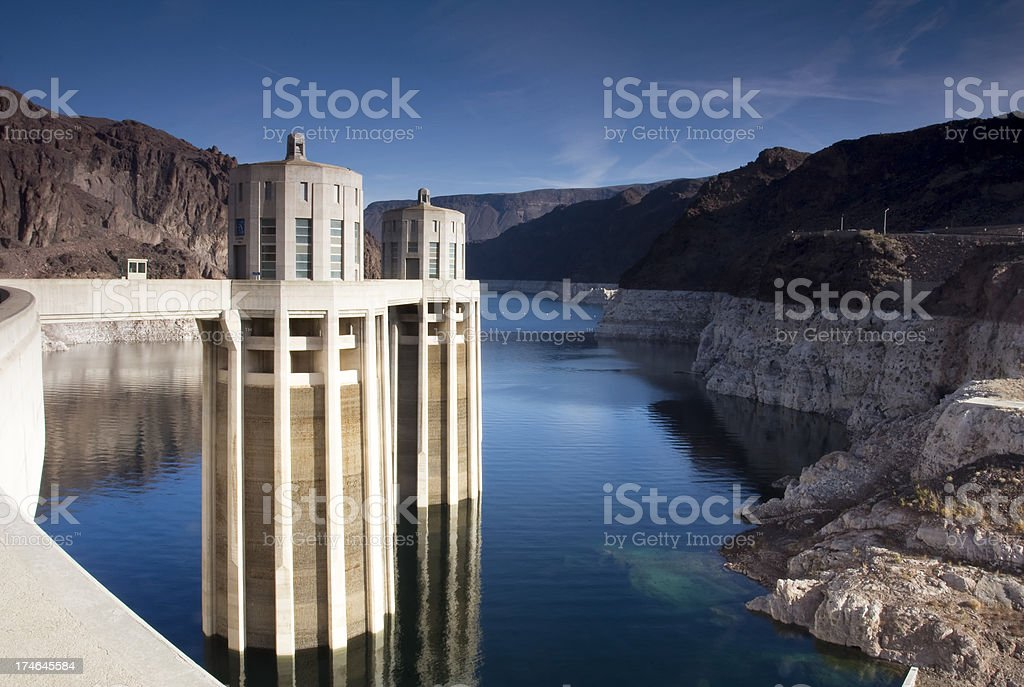Lake Mead at Hoover Dam stock photo