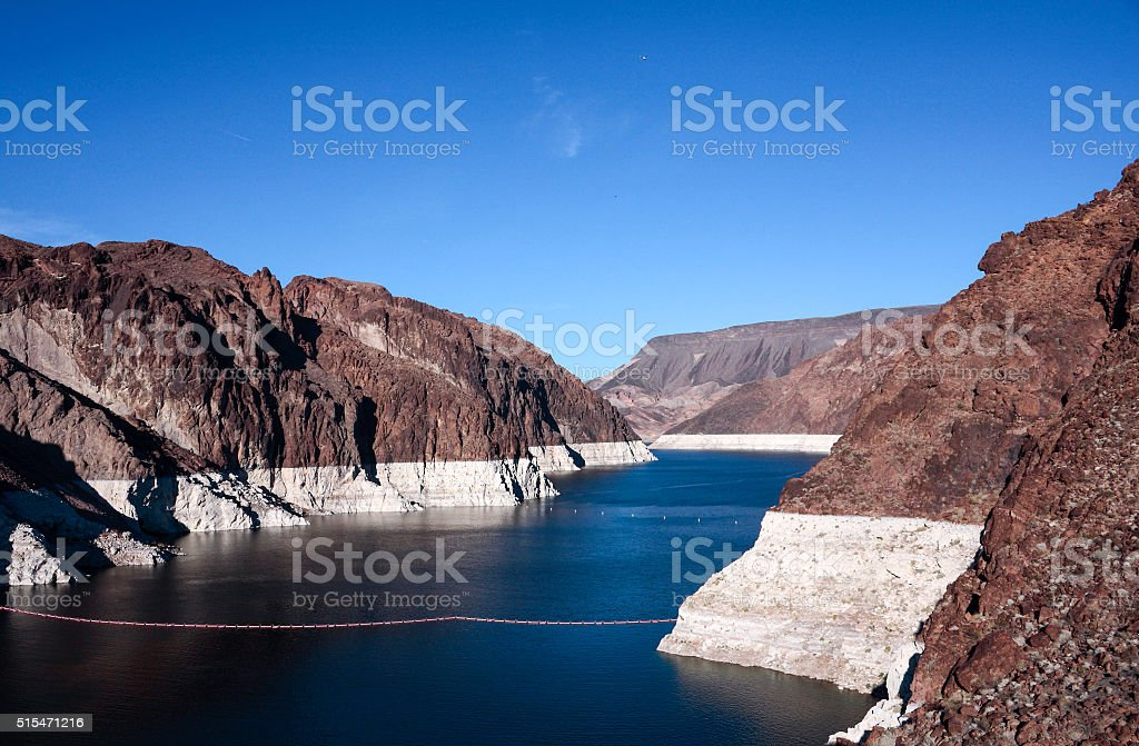 Lake Mead by Hoover Dam stock photo