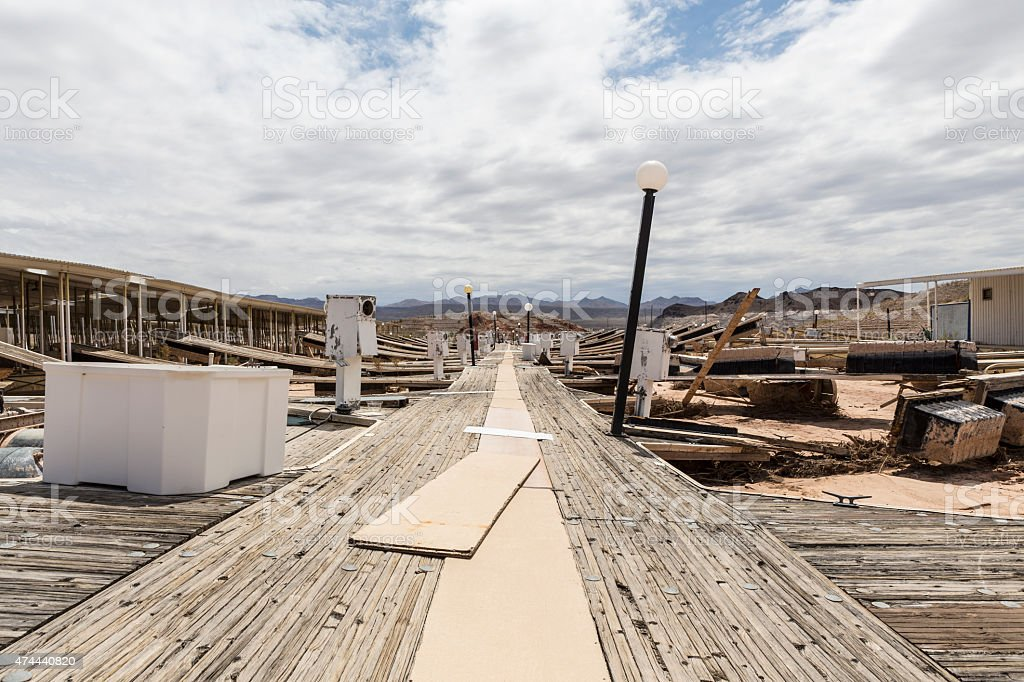 Lake Mead Drought Damage stock photo