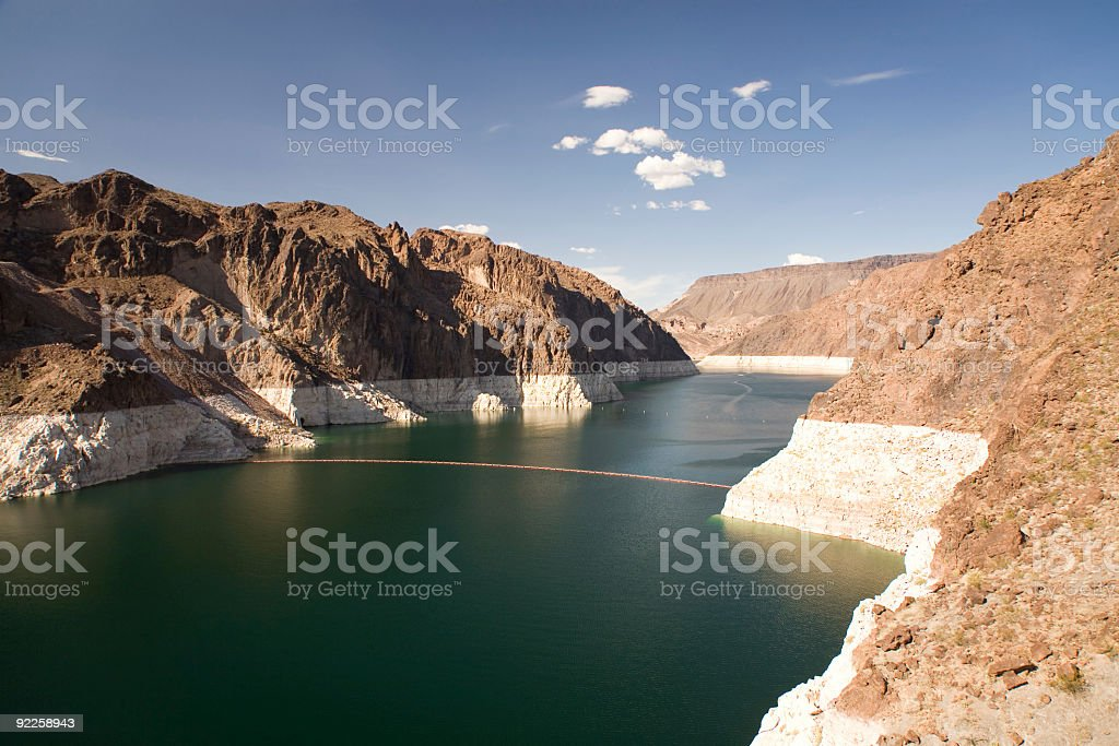 Lake Mead - Hoover Dam stock photo