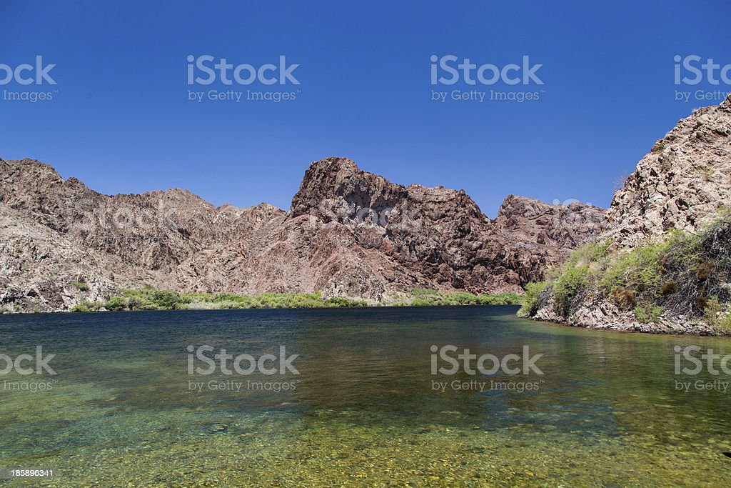 Lake mead in beautiful day stock photo