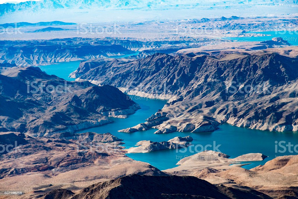 Lake Mead in Nevada stock photo