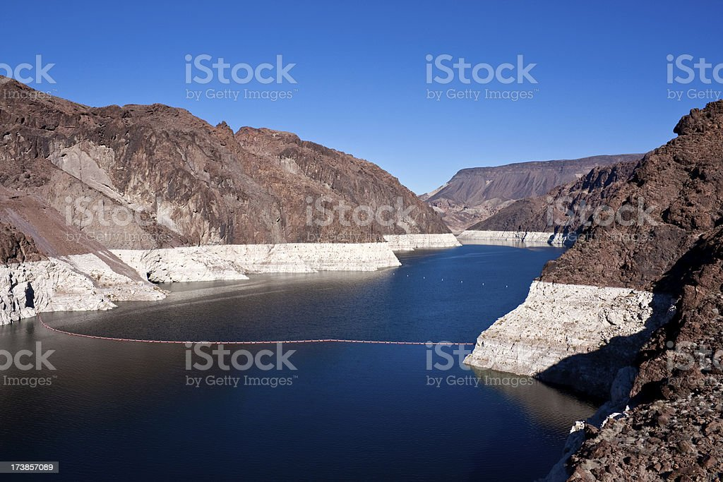 Lake Mead, January, 2009 stock photo