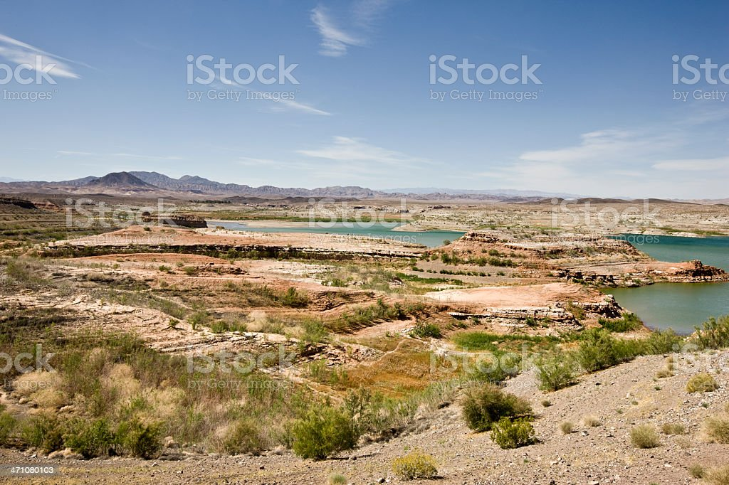 Lake Mead Landscape USA stock photo