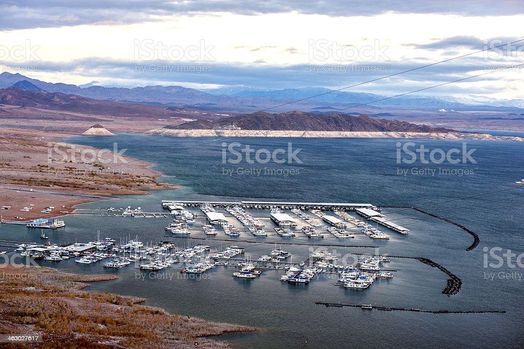 Lake Mead Marina royalty-free stock photo