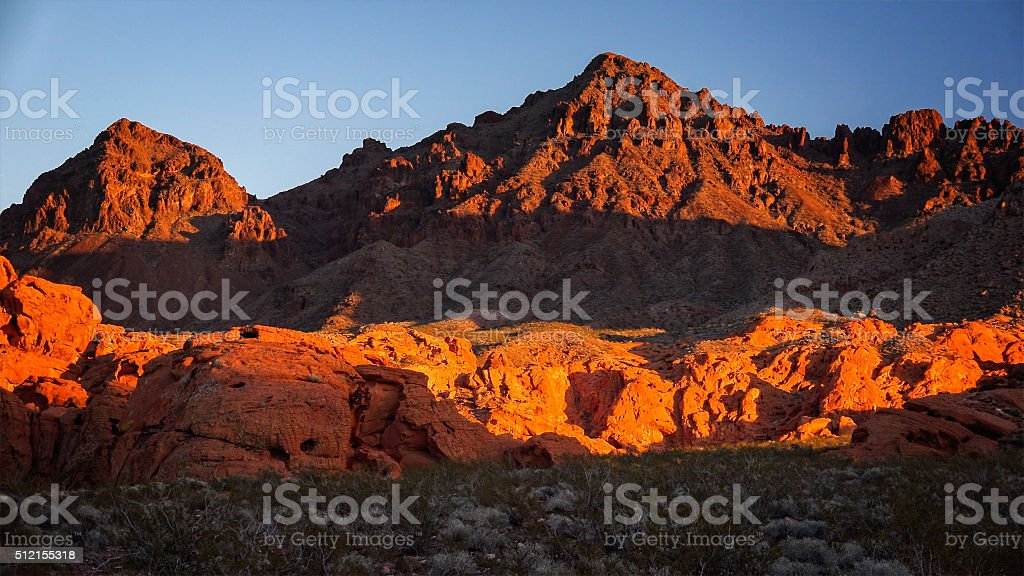 Lake Mead National Recreation Area Redstone stock photo