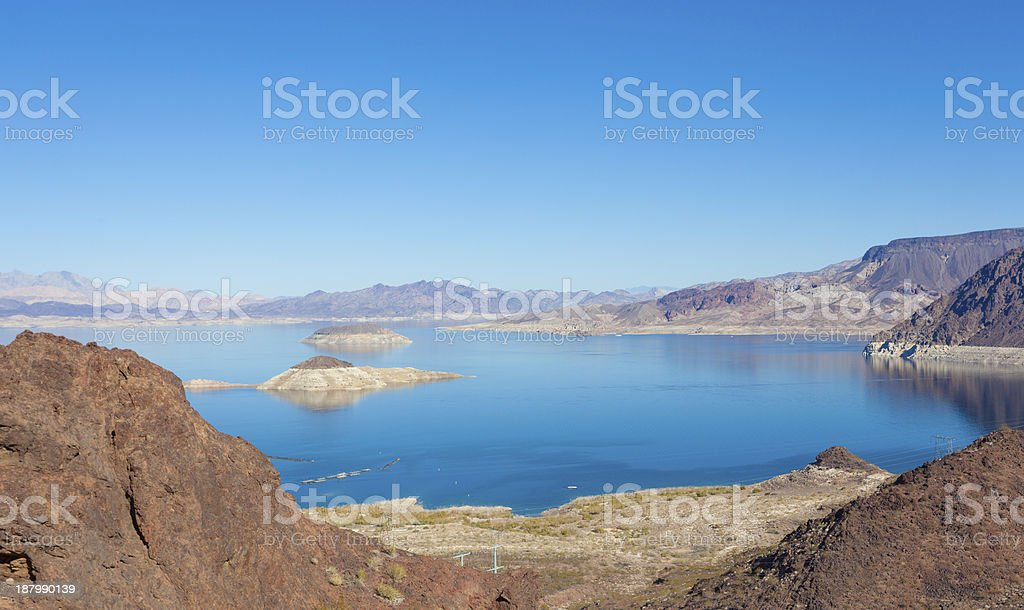 Lake Mead - Nevada On A Sunny Clear Day royalty-free stock photo