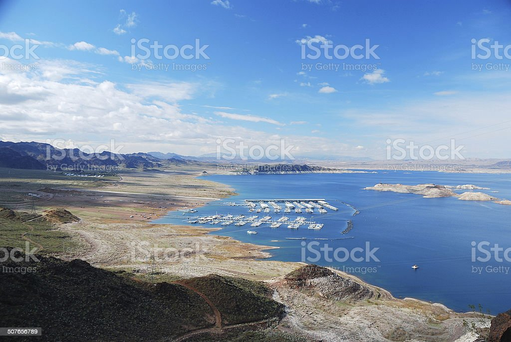 Lake Mead panorama stock photo