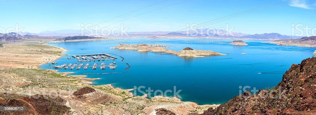Lake Mead Panorama stock photo