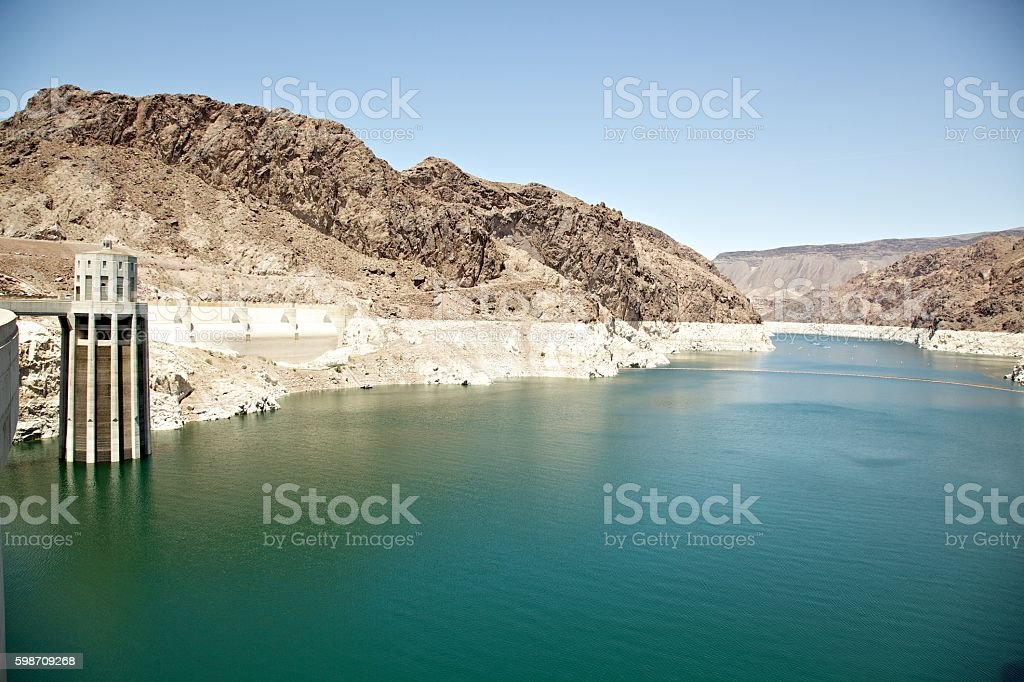Lake Mead Reservoir stock photo