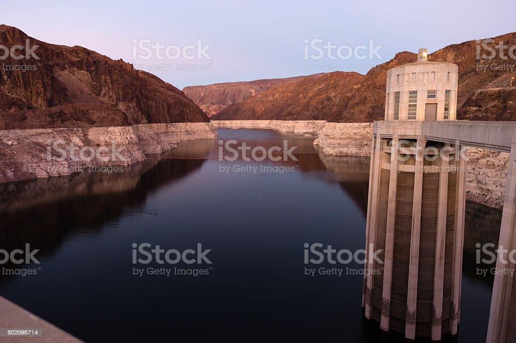 Lake Meade The Colorado River Hoover Dam Neveda Arizona stock photo
