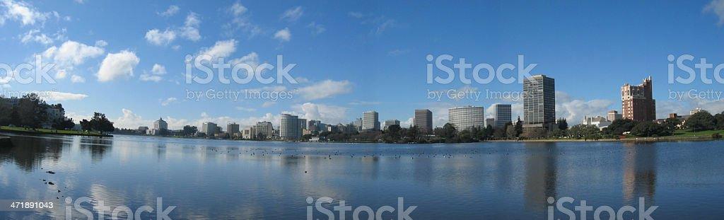 Lake Merritt, Oakland, panorama stock photo