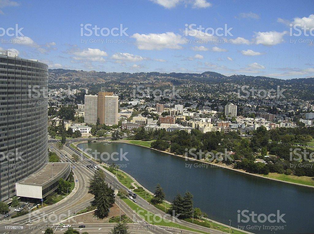 Lake Merritt, Oakland stock photo